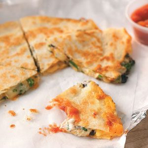 Three-Cheese Quesadillas Recipe