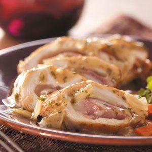 Swiss Chicken Rolls