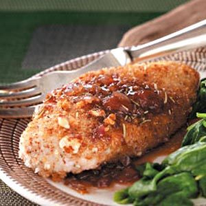 Almond Chicken & Strawberry-Balsamic Sauce