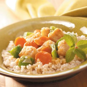 Orange Chicken and Veggies with Rice
