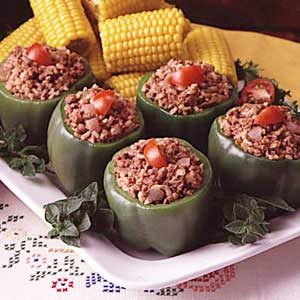 Brown Rice Stuffed Peppers