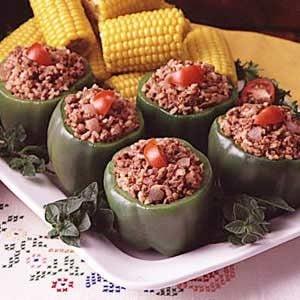 Brown Rice Stuffed Peppers Recipe