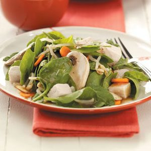 Chinese Spinach-Almond Salad Recipe