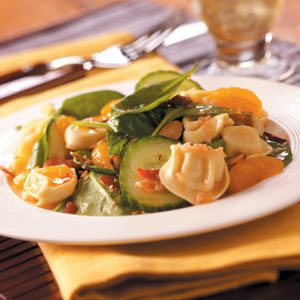 Spinach Tortellini Salad Recipe