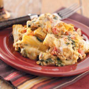 Creamy Spinach Sausage Pasta Recipe