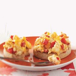 Roasted Pepper, Bacon & Egg Muffins