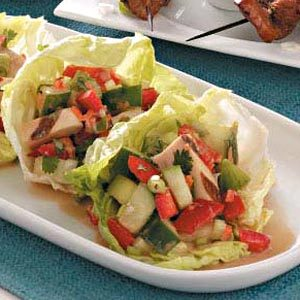 Asian Chicken Salad Lettuce Cups Recipe