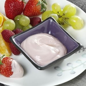 Raspberry-Lime Yogurt Dip for Fresh Fruit Recipe