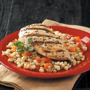 Grilled Chicken with Barley Recipe