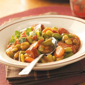 Sweet Sausage 'n' Beans for 3 Recipe