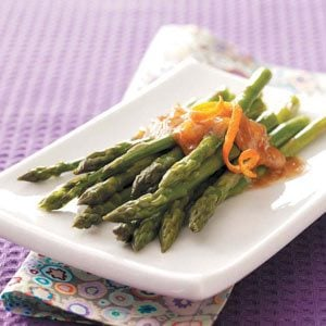Asparagus with Orange-Ginger Butter