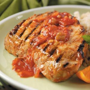 Orange Picante Pork Chops Recipe