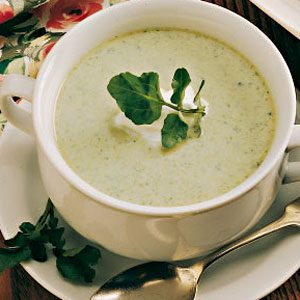 Asparagus Cress Soup for 2 Recipe