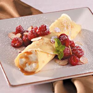 Caramel Cream Crepes for 2 Recipe