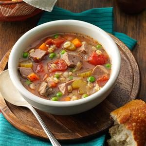 Beef Barley Soup for 2 Recipe