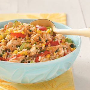 Southwest Chicken & Rice Salad Recipe