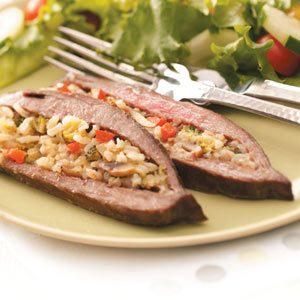 Rice-Stuffed Flank Steak Recipe