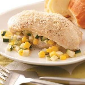 Zucchini and Corn-Stuffed Chicken Recipe