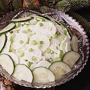 Sour Cream Cucumber Salad Recipe