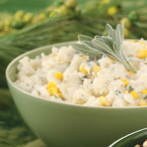Sage Mashed Potatoes with Corn Recipe