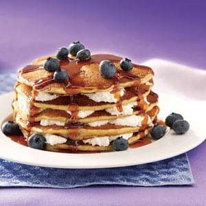Blueberry Cheesecake Flapjacks Recipe