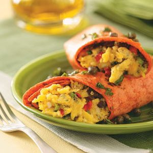 Spanish-Style Brunch Wraps Recipe