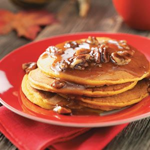 Pumpkin Pancakes with Cinnamon Brown Butter Recipe