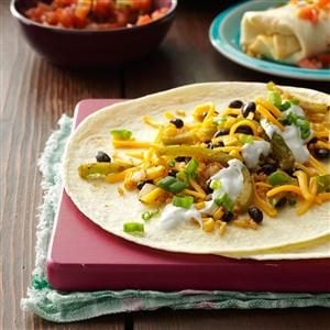 Corn, Rice & Bean Burritos Recipe