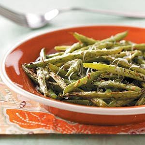 Roasted Parmesan Green Beans Recipe | Taste of Home