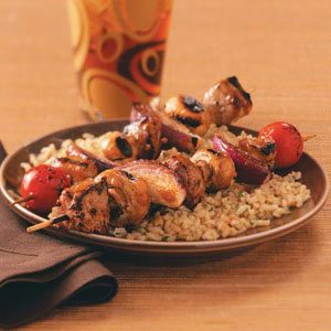 Grilled Teriyaki Pork Kabobs Recipe