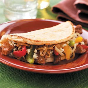 Hearty Sirloin Pitas Recipe