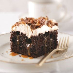 Toffee Poke Cake Recipe