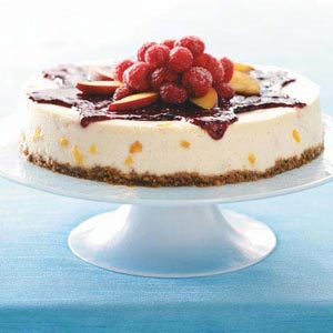 Peach Melba Cheesecake Recipe