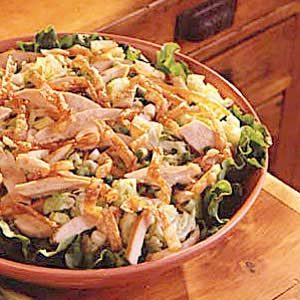 Chinese Chicken Salad with Peanut Sesame Dressing Recipe