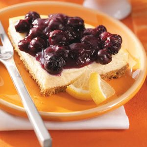 Lactose-Free Blueberry Cheesecake