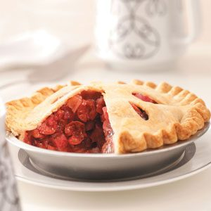 Cherry Rhubarb Pie Recipe | Taste of Home