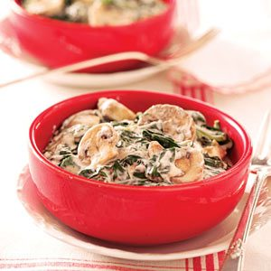 Creamed Spinach and Mushrooms Recipe