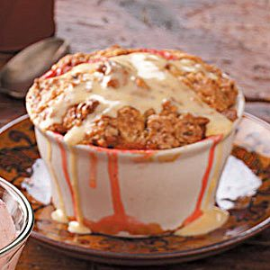 Pecan Strawberry Rhubarb Cobbler