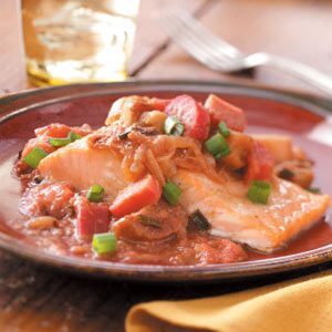 Salmon with Gingered Rhubarb Compote Recipe