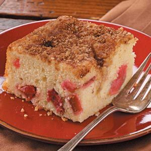Rhubarb-Buttermilk Coffee Cake Recipe
