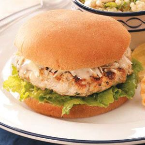 Chicken Caesar Burgers Recipe