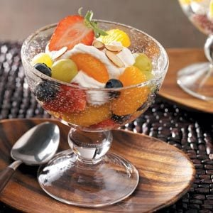 Fruit & Cream Layered Salad Recipe