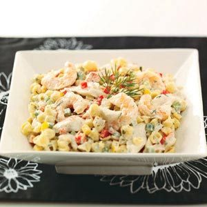Seafood & Shells Salad Recipe