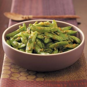 Orange & Mint Snap Peas Recipe