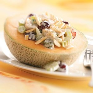 Cantaloupe Chicken Salad for Two Recipe
