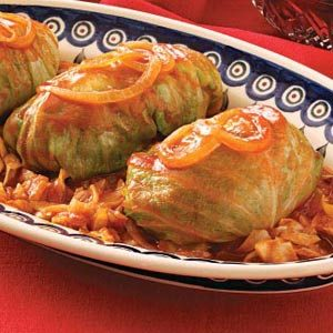 Sweet & Sour Stuffed Cabbage Recipe