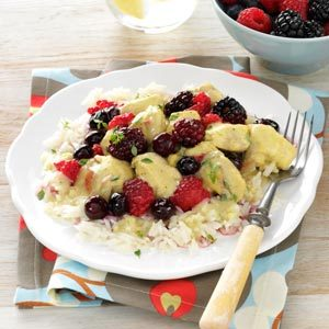 Curry Chicken with Mixed Berries Recipe