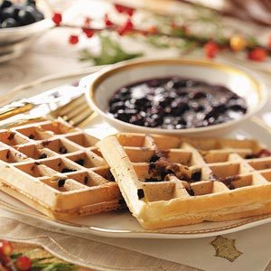 Blueberry Waffles with Blueberry Sauce Recipe