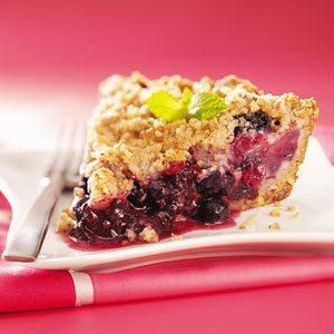 Triple-Berry Crumb Pie