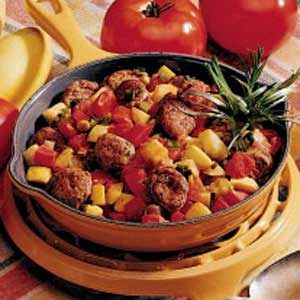 Easy Sausage and Vegetable Skillet Recipe